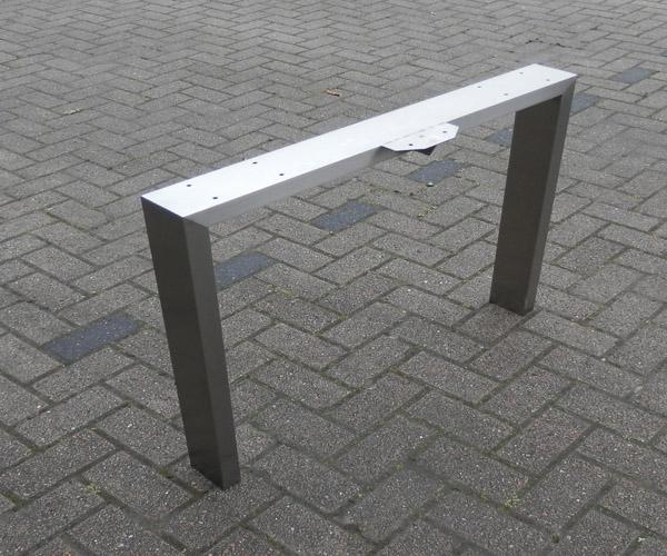 Rvs tafelpoten U vorm