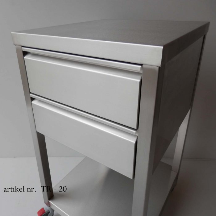 RVS keukentrolley