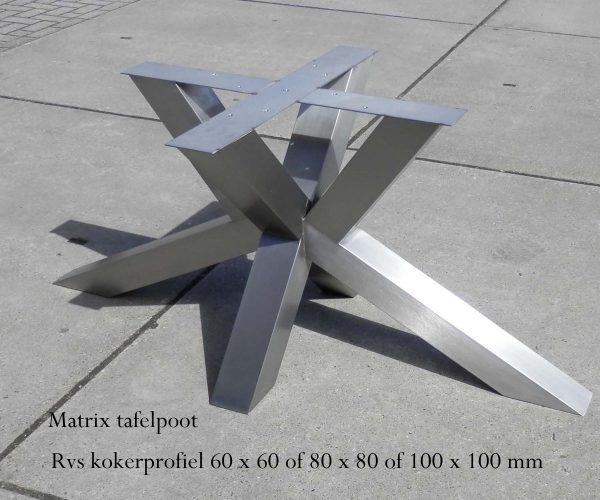 rvs tafelonderstel op maat