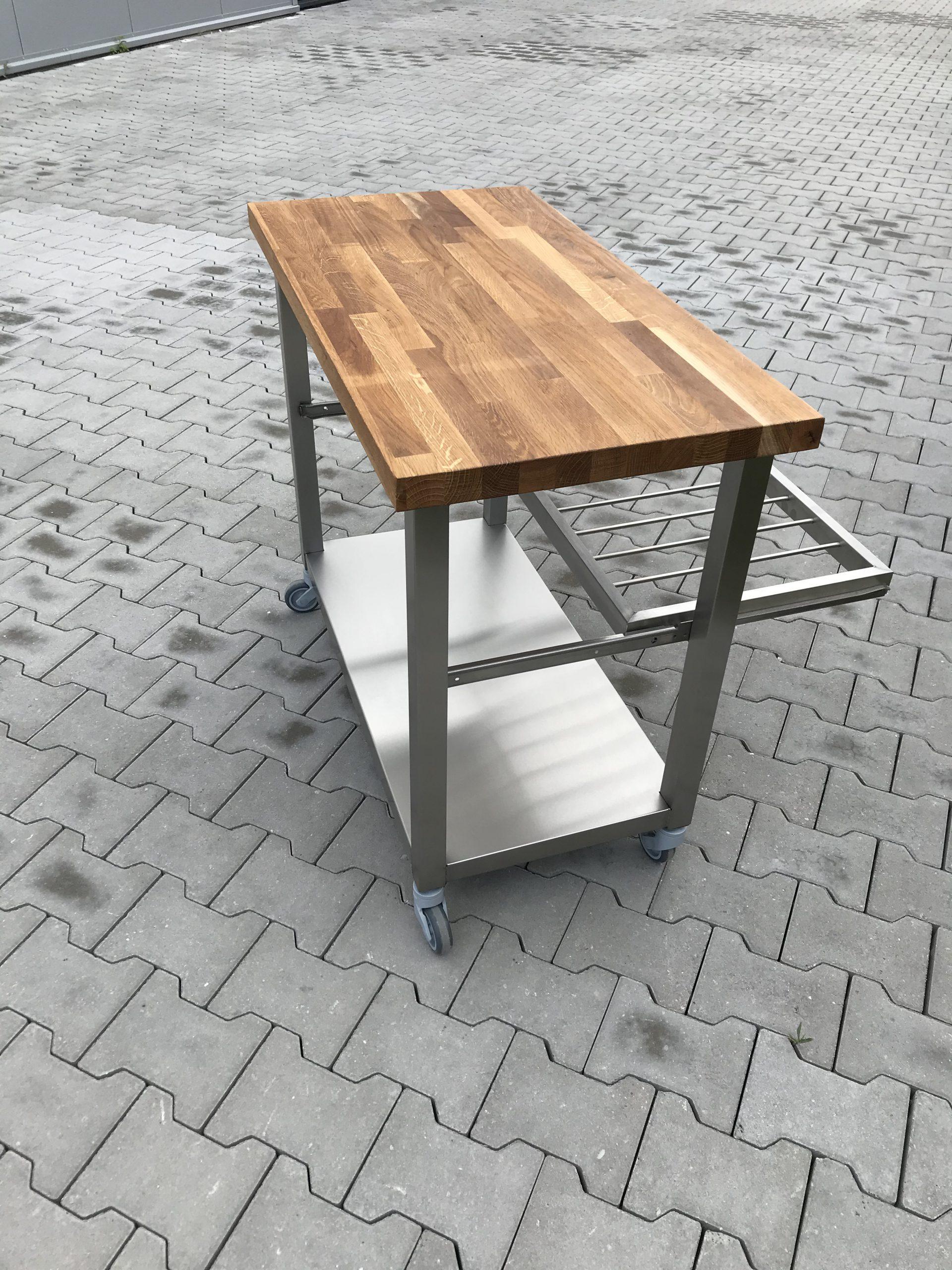 tafel met uittrekbaar rooster